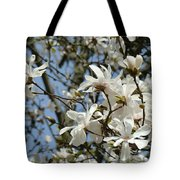 Magnolia Flowers White Magnolia Tree Flowers Art Prints Tote Bag