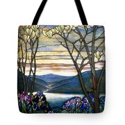 Magnolias And Irises Tote Bag