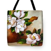 Magnolias In A Clay Pot Tote Bag