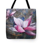 Magnolias In Shadow Tote Bag