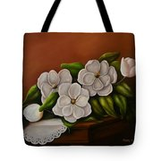 Magnolias On A Table Tote Bag