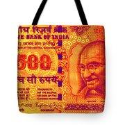 Mahatma Gandhi 500 Rupees Banknote Tote Bag