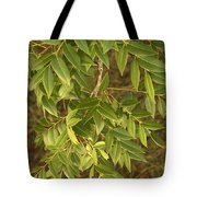 Mahogany Leaves On A Branch Tote Bag