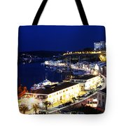 Mahon Harbour At Night Tote Bag