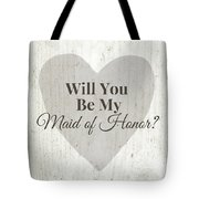 Maid Of Honor Rustic- Art By Linda Woods Tote Bag