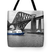 Maid Of The Forth In Blue. Tote Bag