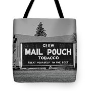 Mail Pouch Tobacco In Black And White Tote Bag
