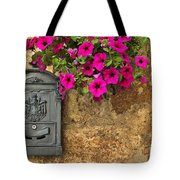 Mailbox With Petunias Tote Bag