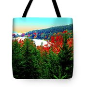 Maine Long Pond Acadia  Tote Bag