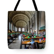 Main Reading Room Of Boston Public Library Tote Bag