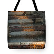 Main Stem Chicago River Tote Bag by Steve Gadomski
