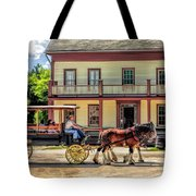 Main Street Of A Bygone Era At Old World Wisconsin Tote Bag