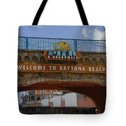 Main Street Pier And Boardwalk Tote Bag by David Lee Thompson