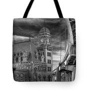 Main Street Station Nw B W Tote Bag by Jemmy Archer