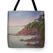Maine Coast Abode - Art By Bill Tomsa Tote Bag
