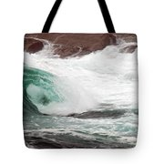 Maine Coast Storm Waves 1 Of 3 Tote Bag