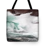 Maine Coast Storm Waves 2 Of 3 Tote Bag
