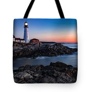 Maine Coastline Sunrise Tote Bag