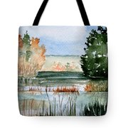 Maine Fall Reflections Tote Bag