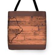 Maine Map Brand Tote Bag