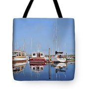 Maine Marina Evening Tote Bag