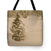 Maine Snowy Day Tote Bag