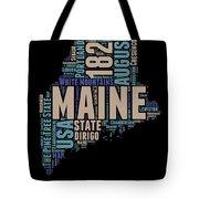 Maine Word Cloud 1 Tote Bag