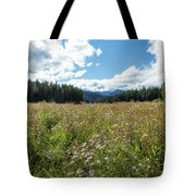 Maisie In A Field Of Flowers Tote Bag