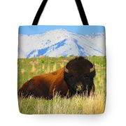 Majestic Buffalo  Tote Bag