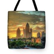 Majestic Gold Midtown Atlantic-station Atlanta Sunrise Art Tote Bag