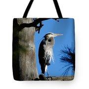 Majestic Great Blue Heron Tote Bag