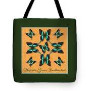 Majestic Green Swallowtail Wheel Tote Bag
