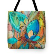 Spirit Lotus With Hope Tote Bag by TM Gand