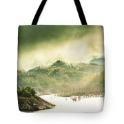 Majestic Morning Lake Tote Bag