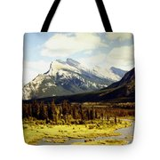 Majestic Mount Rundle Tote Bag