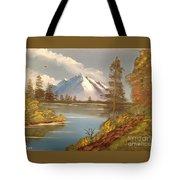 Majestic Mountain Lake Tote Bag