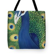 Majestic Peacock Tote Bag