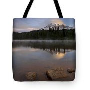 Majestic  Rainier Dawn Tote Bag