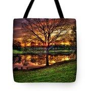 Majestic Sunrise Reflections Art Tote Bag
