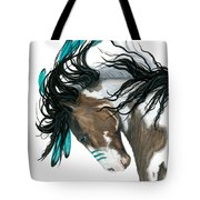 Majestic Turquoise Horse Tote Bag