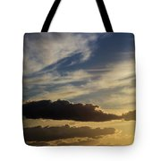 Majestic Vivid Sunset  Over Dark Mountains Tote Bag