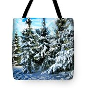 Majestic Winter In New England  Tote Bag