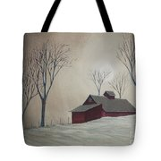 Majestic Winter Night Tote Bag