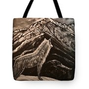 Majestic Wolf Tote Bag