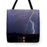 Major Foothills Lightning Strikes Tote Bag