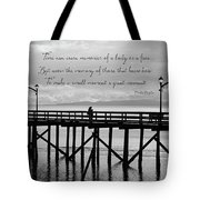 Make A Small Moment A Great Moment - Black And White Art Tote Bag