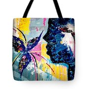 Make A Wish Abstract Art Figure Painting  Tote Bag