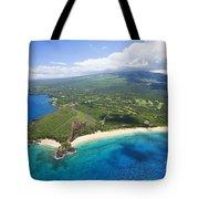 Makena Beach Aerial Tote Bag