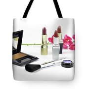 Makeup Brush And Cosmetics Tote Bag