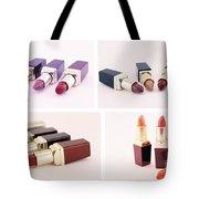 Makeup Set Of Lipsticks Isolated Tote Bag